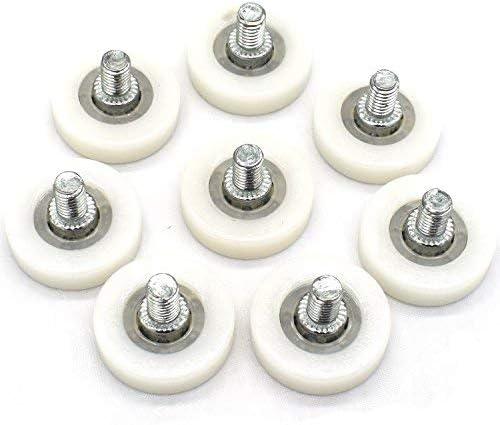 Rodillo de plástico con tornillo, cojinete de rueda para impresoras, cajas registradoras, cajones de frigorífico, rodillos de goma y pequeños rodamientos, 6 x 25 x 7 mm