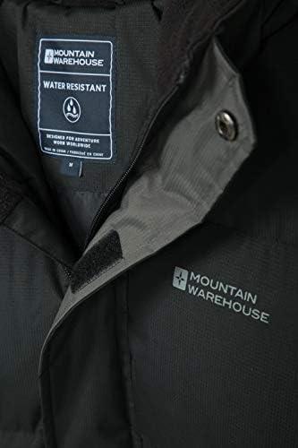 con Capucha Mountain Warehouse Chaqueta de Nieve para Hombre Ideal para Viajes en Invierno Impermeable pu/ños y Dobladillo Ajustables