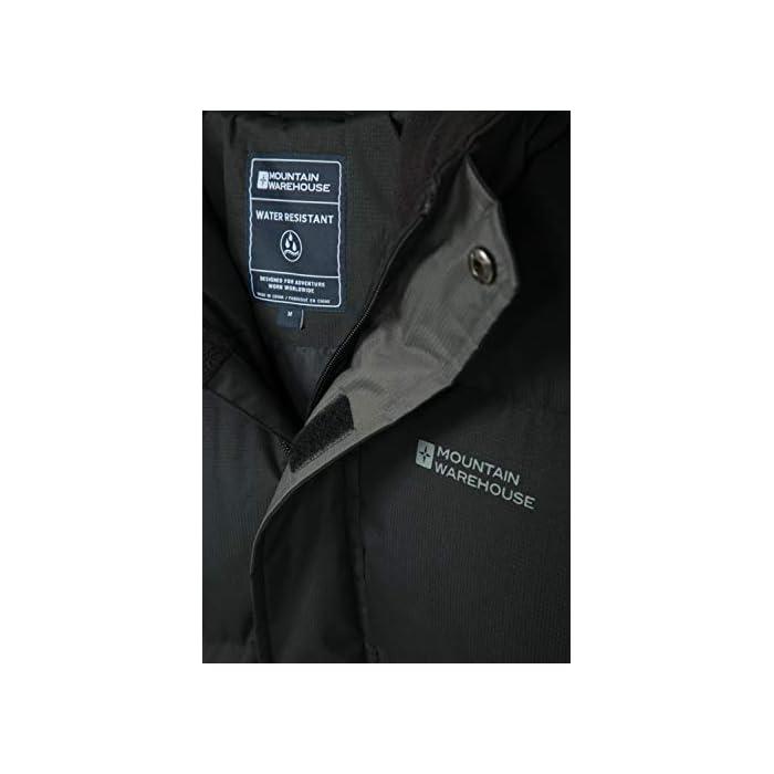 41yFBfclHHL Resistente al agua-Esta prenda de abrigo para hombre tiene un acabado impermeable para que el tejido resista el agua Capucha con forro de felpa-Para más comodidad, confort y calidez, ideal para climas inestables Poliéster