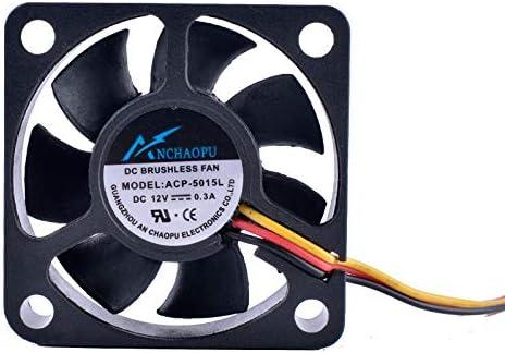 ANCHAOPU 5015 50mm fan 50x50x15mm 12V 0.30A 5cm 3 lines Computer CPU small cooling fan