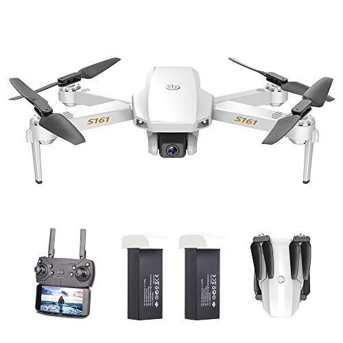 GoolRC CSJ S161 Mini Drone Pro con Cámara 4K Posicionamiento de Flujo óptico Cámara Dual Altitud Hold Gesto Fotos Video 3D FILP Track Flight RC Quadcopter Bolsa de Almacenamiento(2 Batería)