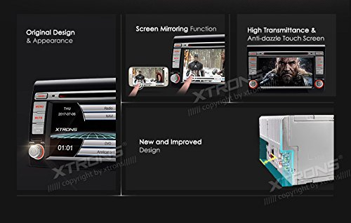 XTRONS 7 Inch HD Digital Touch Screen Car Stereo In-Dash DVD Player with GPS CANbus Screen Mirroring for FIAT Kudos Map Card Included by XTRONS (Image #2)