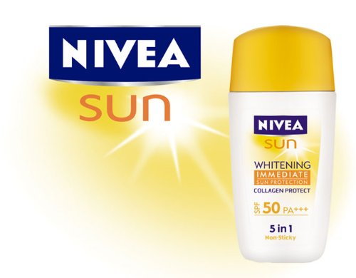 Nivea Sun Face Whitening Immediate Protect Spf50 Pa++30ml. Product of Thailand