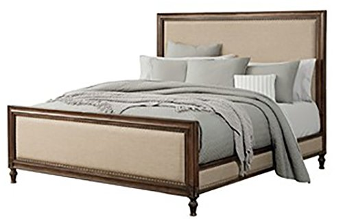 Sonesta Elegant Classic Two Tone Traditional Style Bed with Nailhead Trim Accent (King)