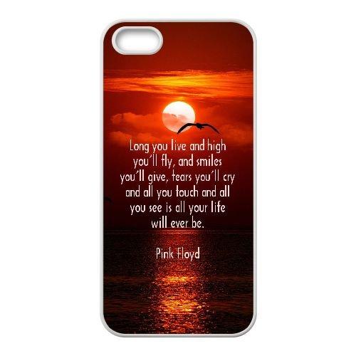 Pink Floyd 005 coque iPhone 4 4S Housse Blanc téléphone portable couverture de cas coque EEEXLKNBC18335