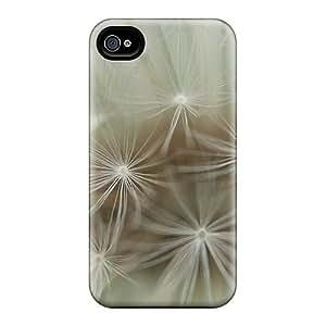 Excellent Design Delion Closeup Phone Case For Iphone 4/4s Premium Tpu Case