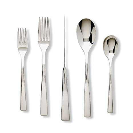 Service for 8 Plus 2-Piece Hostess Set 49042-9 Ginkgo International President 42-Piece Stainless Steel Flatware Place Setting