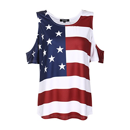 (MUST ROSE SPORTS AND HOMEWEAR Fourth of July T Shirt Patriotic T-Shirt American Flag T Shirt Independence Day Tee)