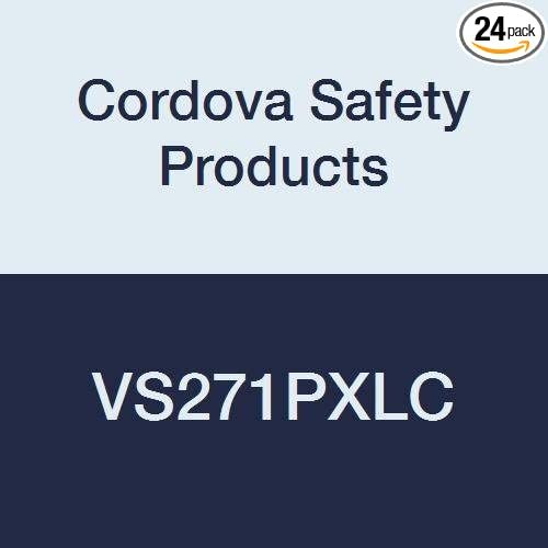 Cordova Safety Products VS271PXLC Hi-Vis Polyester Mesh Class 2 Surveyors Safety Vest with 2 Reflective Tape