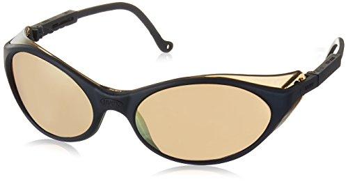 Uvex S1624 Bandit Safety Eyewear, Slate Blue Frame, Gold Mirror Ultra-Dura Hardcoat Lens (Glasses Frames Slate Safety)