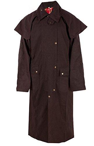Mens Oil Cloth Oilskin Western Australian Waterproof Duster Coat Jacket - Oilskin Australian