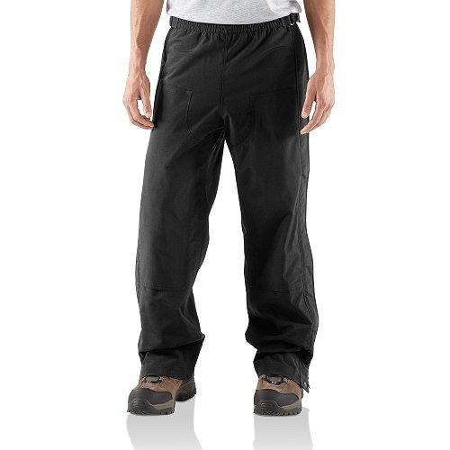 Carhartt Men's Shoreline Pant Waterproof Breathable Nylon,Black,Medium