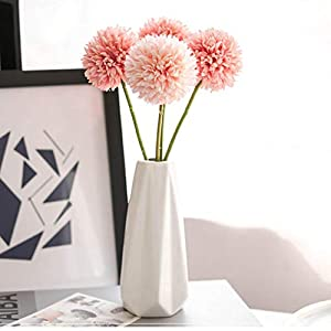 Eyourlife Artificial Chrysanthemum Ball Flowers, 6pcs Fake Silk Flowers for Friends Home Office Coffee House Parties and Wedding Decoration 37