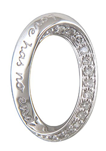 JMS Jewelry 10K White Gold Love Has No End Pendant Diamond with 18