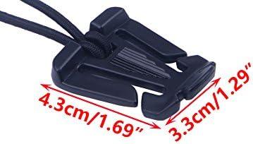 LETAOSK 10pcs Tactical Molle Elastic Tie-down Cord Strap Carabiner Webbing Buckle Clip EDC Outdoor