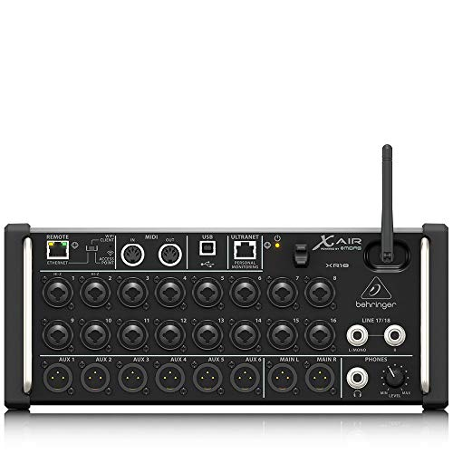 Laptop 01v - Behringer XR18 Digital Mixer