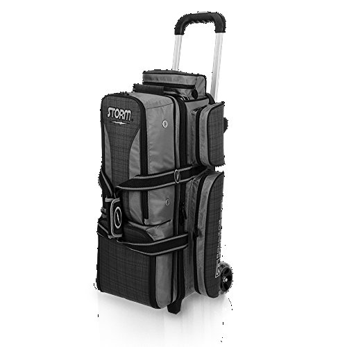 Storm 3 Ball Rolling Thunder Bowling Bag- Charcoal Plaid/Gray/Black (Charcoal Plaid/Gray/Black)
