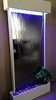 "Wall Waterfall XL 46""x22"" Vertical WALL FOUNTAIN, Color Lights Remote Ctrl Sale"
