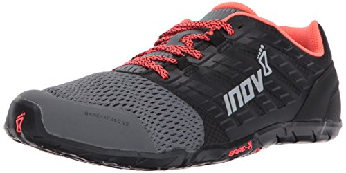 Inov-8 Women's Bare-XF 210 v2 (W) Cross Trainer, Grey/Black/Coral, 9 B US