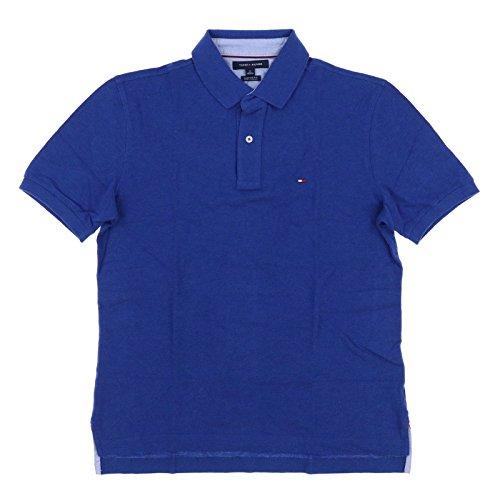 Tommy Hilfiger Mens Mesh Classic Fit Polo Shirt (XX-Large, Dark Cobalt) ()