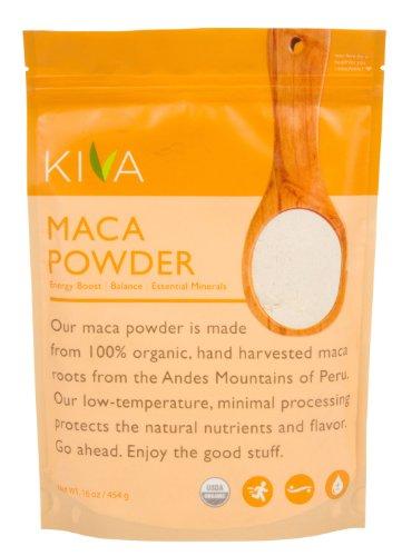 Poudre de Maca bio Kiva - Non-OGM, crue et végétalienne (16 oz)