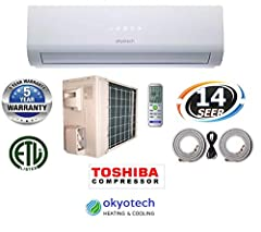 Okyotech 3D Air Flow Ductless Mini Split Air Conditioner is the product of over quarter century of experience and the latest superior technology. Please refer to okyotech website for the detailed product specs and features. Okyotech proudly o...