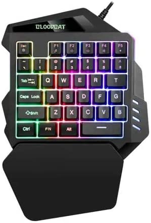 Color : Three Colors Gaming Keyboard Gamer Single-Hand Control Keypad For PC Laptop Computer Non-Mechanical Laptop Gaming Keyboard Adjustable Gaming Keyboard One-Handed Keyboard Colorful Backlight