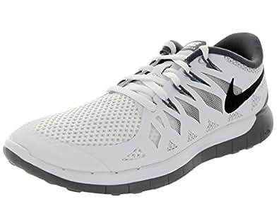 Nike Women's Free 5.0 White/Black/Pr Platinum/Cl Gry Running Shoe 5.5 Women US