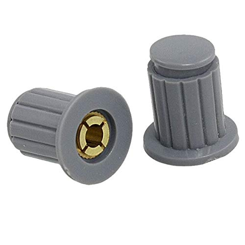 SMALL-CHIPINC - 10 Pcs Gray Ribbed Grip 4Mm Split Shaft Potentiometer Control Knobs | 4mm | 5mm | 6mm