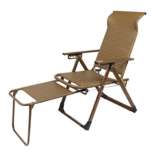 - SACKDERTY Rattan Folding Chair Lazy Lounge Chair Sun Lounger Retractable Pedal Zero Gravity Chair Adjustable Bungee Chairs