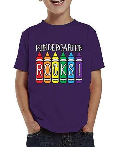 SpiritForged Apparel Kindergarten Rocks! Toddler T-Shirt, Purple 5T/6T