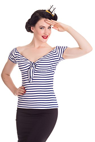 Hell-Bunny-Dolly-Nautical-Striped-Top-3X-Navy