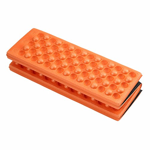 ezyoutdoor Pack of 5 Pieces Foldable Folding Outdoor Camping Mat Seat Foam XPE Cushion Portable Waterproof Chair Picnic Mat Pad (Orange)