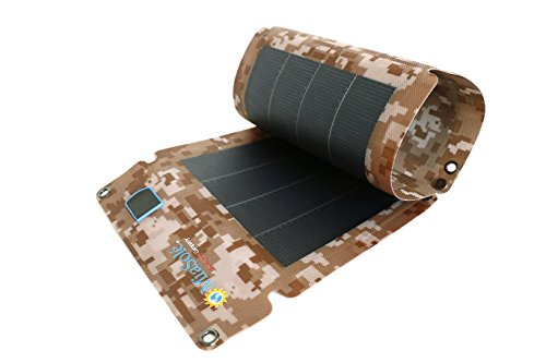 Miasole Thin Film Portable Solar Charger 12W with USB port for iPhone iPad Samsung Cellphones and More