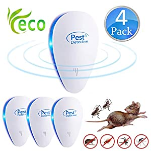Repellente Ultrasuoni,Pest Control Repeller Plug in Uso Interno, Miglior Disinfestatore per Insetti, Topi Insetti… 7 spesavip