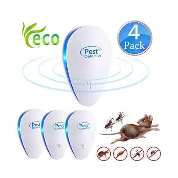 Repellente Ultrasuoni,Pest Control Repeller Plug in Uso Interno, Miglior Disinfestatore per Insetti, Topi Insetti… 1 spesavip