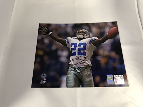 Emmitt Smith Autographed Signed Dallas Cowboys 8x10 Photo GTSM Emmitt Personal Player Hologram & COA (Smith Signed Ball)