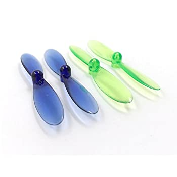 10 x Quantity of X-Drone Nano H107R Transparent Clear Blue and Green Propeller Blades Props Rotor Set 55mm Factory Units