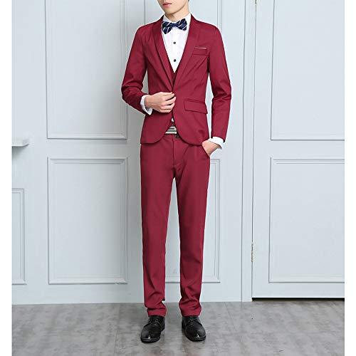 Pantalons 3 Pour Mariage Xfentech Veste Rouge Dîner Décontractée Affaires Pièces amp; Gilet Ensembles De Costumes Hommes gqgwCfB