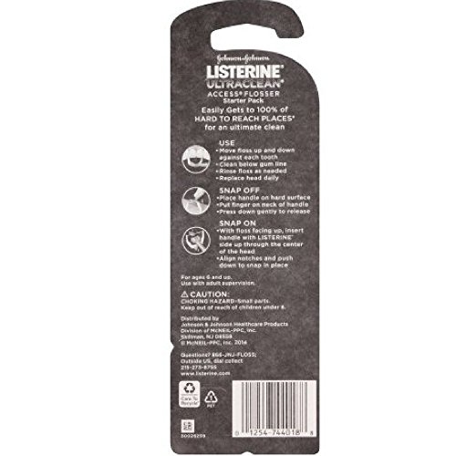 Listerine Ultraclean Access Flosser, Starter Pack (Pack of 8) by Listerine (Image #1)