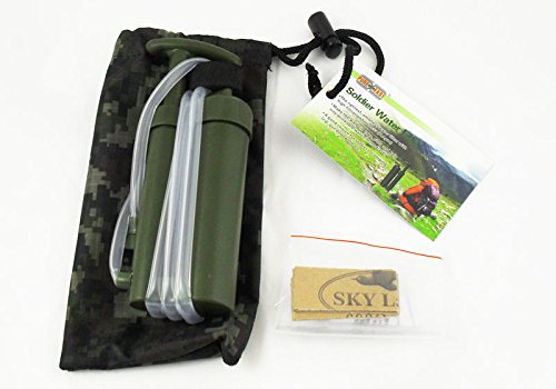 IMAGE® Water Filter for Soldiers Hiking Camping Fishing Hunting Climbing Trip Travel Out-door Work Survival