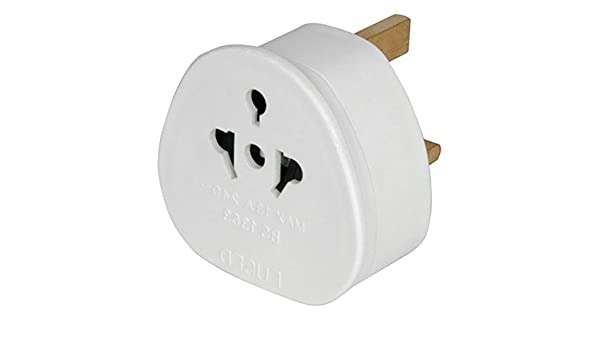 PowerPlus 13Amp a Hembra Adaptador de Enchufe para Estados Unidos/Europe/Japón/Australia/China y Latinoamérica a/Irlanda/Singapur/India/Sudáfrica BS 5733 Blanco: Amazon.es: Electrónica