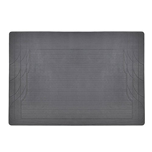 MotorTrend Utility Cargo Floor Mats for Car - Trimmable to Fit, Foldable, Cargo & Trunk Protection (Gray) ()