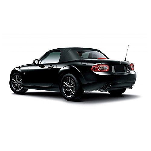 - AutoBerry Compatible with Mazda Miata Convertible Top & Heated Glass Window Black Stayfast Cloth 2006-2015