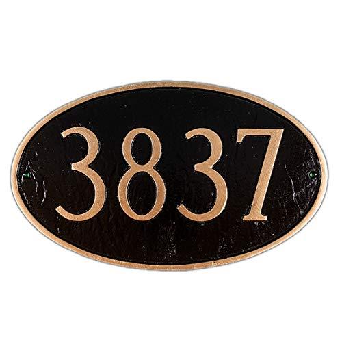- Large Oval Address Plaque - Estate Size House Number Sign - Choose Your Color