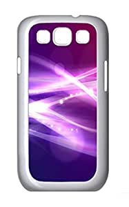 Abstract light ID04 Polycarbonate Hard Case Cover for Samsung Galaxy S3 I9300¨C White