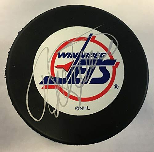 Teem Selanne Autographed Signed Winnipeg Jets Puck With JSA Coa - Jets Winnipeg Signed