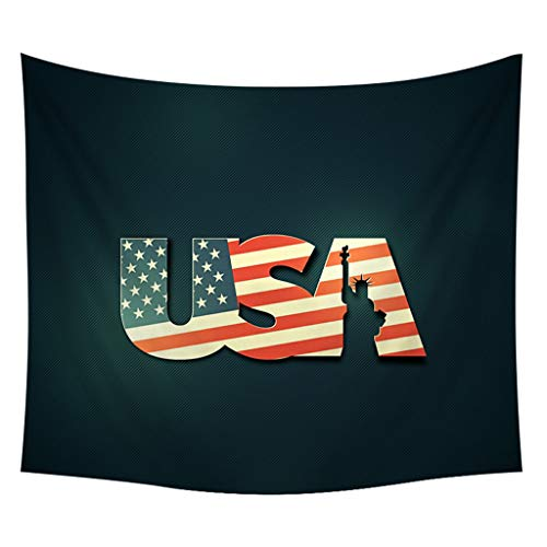 USA 4th of July Independence Day Tapestry The Star-Spangled Banner Bald Eagle Statue of Liberty Printed Home Tapestry Wall Hanging Wall Decoration for Livingroom Pub Mall Shop School Decoration ()