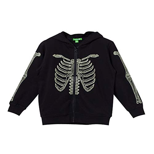 - Bossini Spring Festival Boys Solid Casual Costume Skeleton Hoodie Kids Jacket Black 120,US Size 6x/7/8