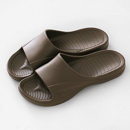 plastica da bagno uomini giovane 43 marrone e le camera anti donne slittamento da 44 ciabatte home pantofole gli spesso bagno di vassoio fresca in fankou ciabatte estate qwpRg8g